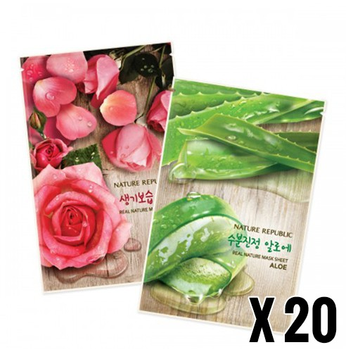 Nature Republic Real Nature Mask Sheet 10 + 10 sheets