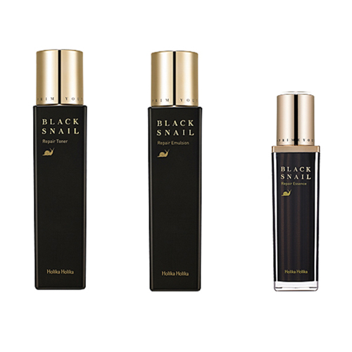 Holika Holika Prime Youth Black Snail Repair Essence+Emulsion+Toner set