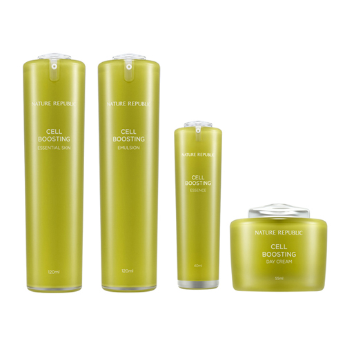 Nature Republic Cell Boosting Day Cream+Essence+Emulsion+Essential Skin set