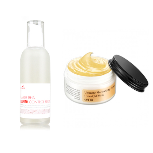 Neulii Teatree BHA Blemish Control Serum 100ml + Cosrx Ultimate Moisturizing Honey Overnight Mask 50g