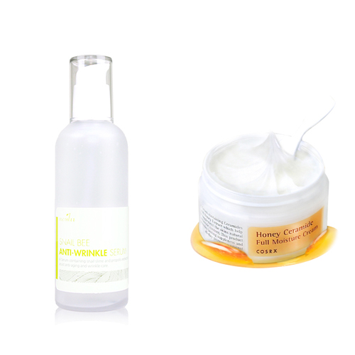 Neulii Snail Bee Anti Wrinkle Serum 100ml + Cosrx Honey Ceramide Full Moisture Cream 50ml