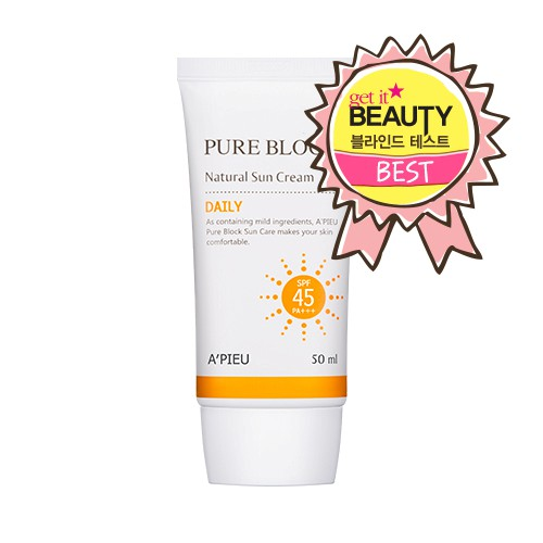 A'PIEU Pure Block Natural Daily Sun Cream SPF45/PA+++ 50ml