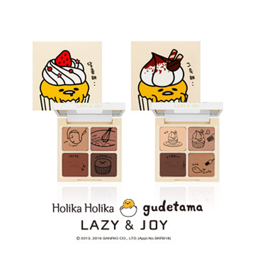 Holika Holika gudetama LAZY&JOY Cupcake Eye Paltte Shadow 6g