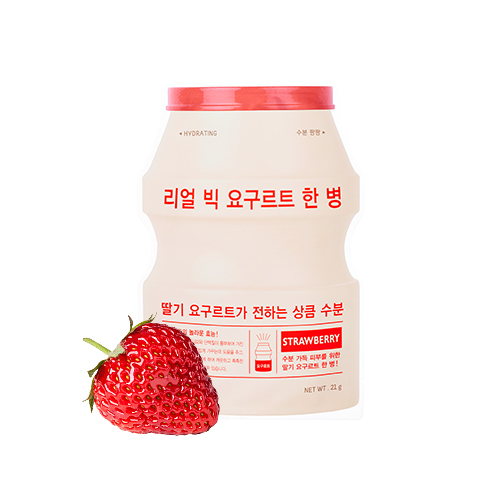 A'PIEU Real Big Yogurt One Bottle Strawberry 21g*3ea