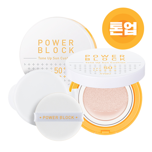 A'PIEU Power Block Tone Up Sun Cushion SPF50+ PA++++ 14g