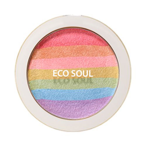 the SAEM Eco Soul Rainbow Blusher 8g