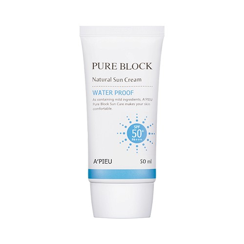 A'PIEU Pure Block Natural Water Proof Sun Cream SPF50+ PA+++ 50ml