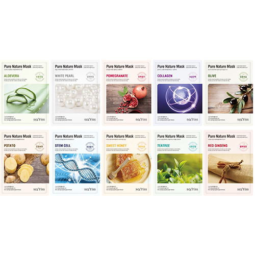 Secriss Pure Nature Mask Pack 20Sheets (2ea of each types)