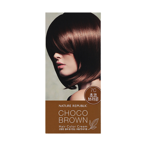 Nature Republic Hair & Nature Hair Color Cream 7C Choco Brown