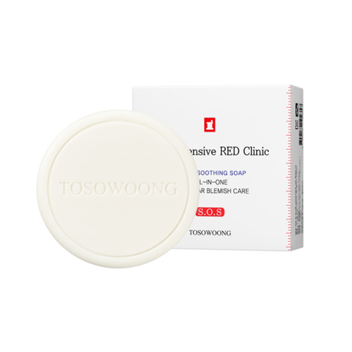 TOSOWOONG SOS Intensive Red Clinic Facial Soothing Soap 100g