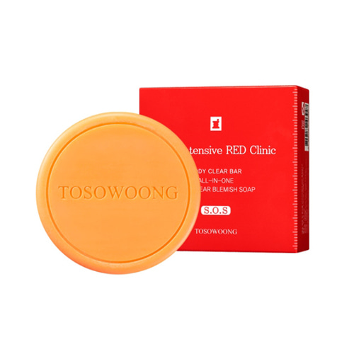 TOSOWOONG SOS Intensive Red Clinic Body Clear Bar(Soap) 100g
