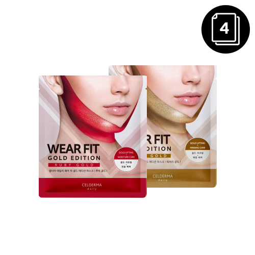 CELDERMA daily Wear Fit Gold Edition Mask 4ea