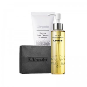 Ciracle Cleansing Set 2Cleansing Oil+Blackhead Soap+Enzyme Foam Cleanser