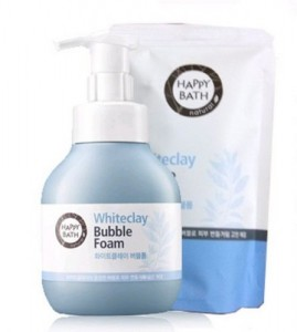 HAPPYBATH Whiteclay bubble Foam 300ml + Refill 300ml Set