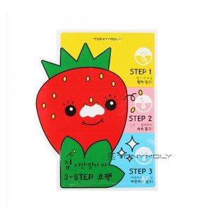 TONYMOLY Strawberry Seed 3-step Nose Pack 6g