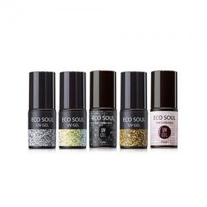 the SAEM Eco Soul Nail Collection UV GEL Glitter 5g