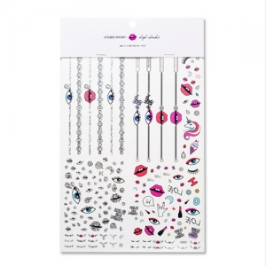 Etude House BLING ME PRISM Jewel Henna Sticker (body & nails)