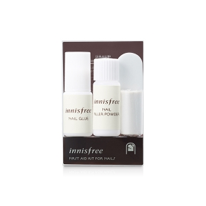 Innisfree FIRST AID KIT FOR NAILS 1SET(powder4g+glue3g+Wrap30cm+MiniBuffer1ea)