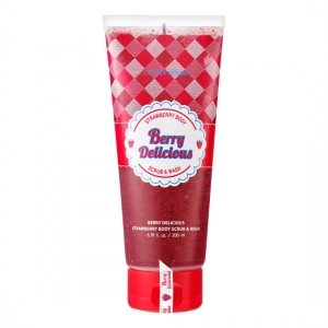 Etude House Berry Delicious Strawberry Body Scrub & Wash 200ml