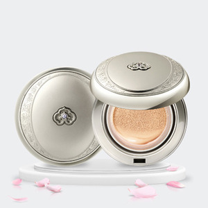 The History of Whoo Radiant White Moisture Cushion Foundation 15g + Refill 15g