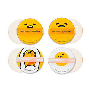 Holika Holika gudetama LAZY&EASY Cushion Puff (4ea/1pack)