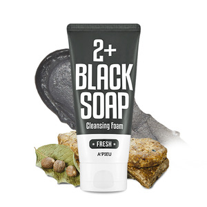 A'PIEU Fresh Blacksoap 2+ Cleansing Foam 130ml