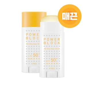 A'PIEU Power Block All Day Sun Stick SPF50+ PA++++ 15g