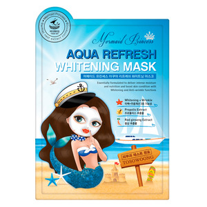 TOSOWOONG Mermaid Princess Aqua Refresh Whitening Mask 10sheets