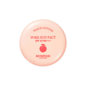 SkinFood Peach Cotton Pore Sun Pact SPF42 PA+++ 9g
