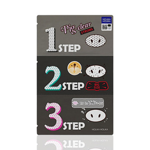 Holika Holika Pig Clear Black Head 3-Step Kit Strong 3ea