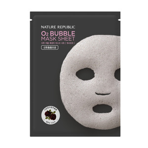 Nature Republic O2 Bubble Mask Sheet Black Rose 28g