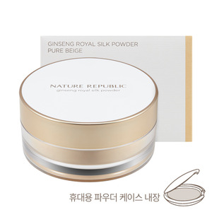 Nature Republic Ginseng Royal Silk Powder Pure Beige SPF26 PA+ 27g