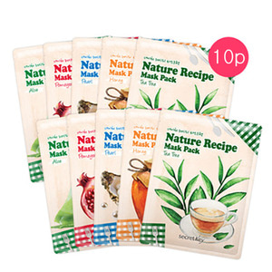 secretKey Nature Recipe Mask Pack 10ea