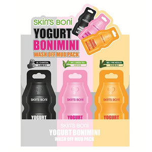 Skin'S Boni Yogurt Bonimini Wash Off Mud Pack Triple Set 15g * 12ea (4 of each kind)