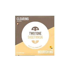 LANEIGE Two Tone Sheet Mask Clearing & Nourishing 28ml 1ea