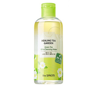 the SAEM Healing Tea Garden Green Tea Oil In Cleansing Water 300ml
