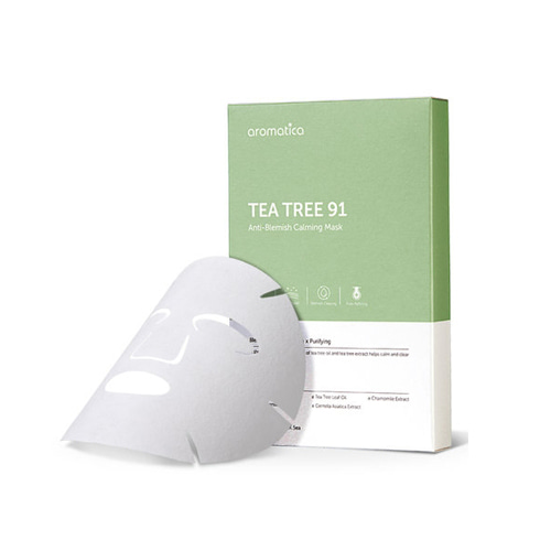 Aromatica Tea Tree 91 Anti-Blemish Calming Mask 19g * 5ea
