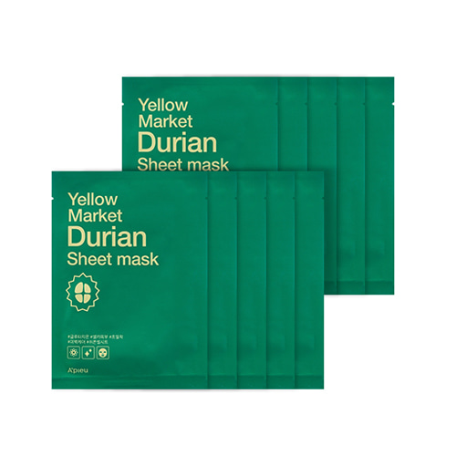 A'PIEU Yellow Market Durian Sheet Mask 10ea