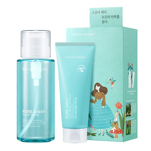 NATURE REPUBLIC Pore Away Clear Toner Set