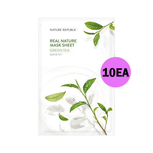 NATURE REPUBLIC Real Nature Mask Sheet Green Tea 10ea
