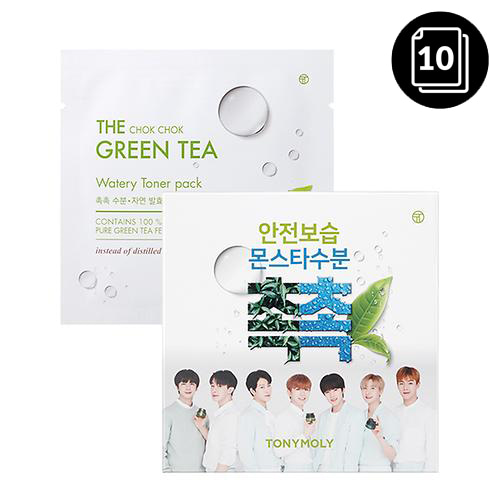 TONYMOLY The Chok Chok Green Tea Watery Toner Pack 10ea