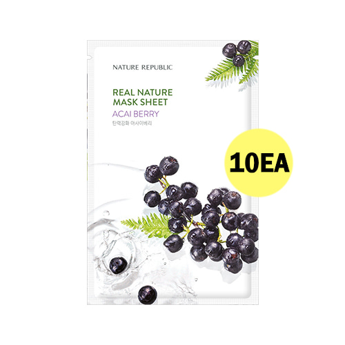 NATURE REPUBLIC Real Nature Mask Sheet Acai Berry 10ea