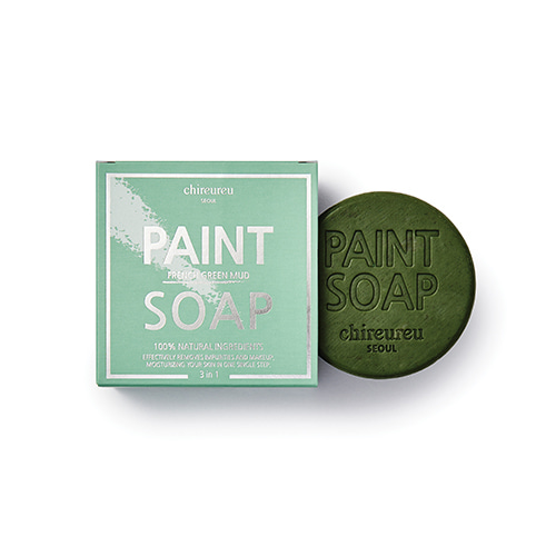 chireureu Paint Soap French Green Mud 100g