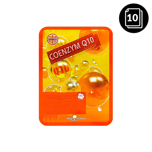 MAY ISLAND Coenzyme Q10 Real Essence Mask Pack 10ea