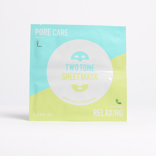 LANEIGE Two Tone Sheet Mask Porecare & Relaxing 28ml 1ea