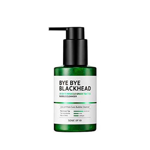 [Hidden] SOME BY MI Bye Bye Blackhead 30 Days Miracle Green Tea Tox Bubble Cleanser 120g
