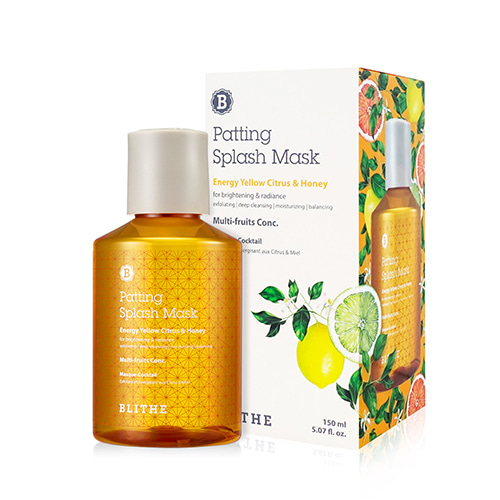 BLITHE Patting Splash Mask Energy Yellow Citrus & Honey 150ml
