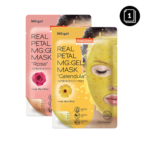 PUREDERM Real Petal Mg:Gel Mask 1ea