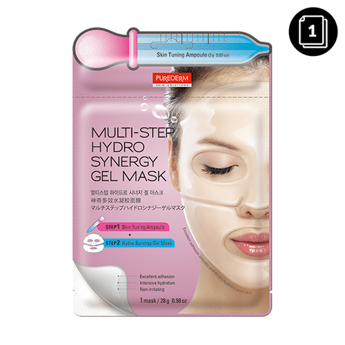 PUREDERM Multi-Step Hydro Synergy Gel Mask 1ea