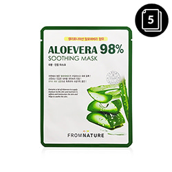 FROM NATURE Aloevera 98% Soothing Mask 22ml * 5ea